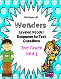Wonders Leveled Reader Response to Text UNIT 1