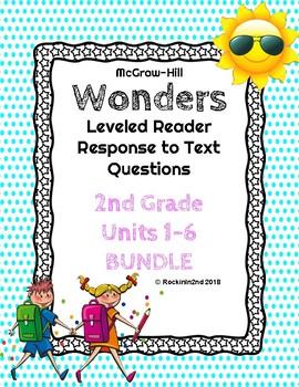 Wonders Leveled Reader Response to Text BUNDLE UNITS 1-6