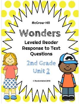 Wonders Leveled Reader Response to Text UNIT 2