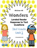 Wonders Leveled Reader Response to Text UNIT 2