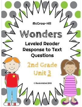 Wonders Leveled Reader Response to Text UNIT 3