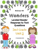 Wonders Leveled Reader Response to Text UNIT 3