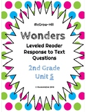 Wonders Leveled Reader Response to Text UNIT 5