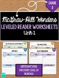Wonders Leveled Reader Worksheets - GRADE 3, UNIT 1