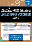 Wonders Leveled Reader Worksheets - GRADE 3, UNIT 2