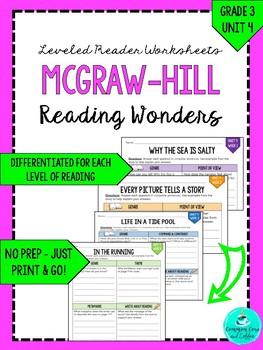 Wonders Leveled Reader Worksheets - GRADE 3, UNIT 4