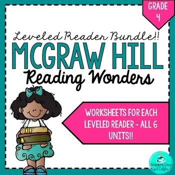 Wonders Leveled Reader Worksheets - GRADE 4 BUNDLE!!! | TpT