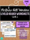 Wonders Leveled Reader Worksheets - GRADE 4, UNIT 1