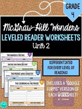 GRADE 4, UNIT 2 - Wonders Leveled Reader Worksheets (PDF & Google Forms)