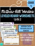 GRADE 4, UNIT 2 - Wonders Leveled Reader Worksheets (PDF &