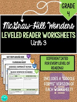 Wonders Leveled Reader Worksheets - GRADE 4, UNIT 3