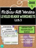 GRADE 4, UNIT 3 - Wonders Leveled Reader Worksheets (PDF &