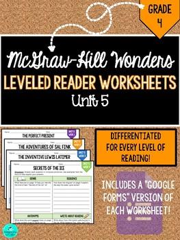 Wonders Leveled Reader Worksheets - GRADE 4, UNIT 5