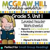 Wonders Leveled Reader Worksheets - GRADE 5, UNIT 1