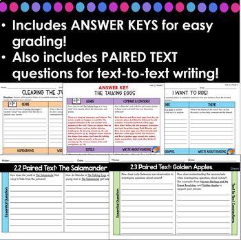 Wonders Leveled Reader Worksheets - GRADE 5, UNIT 2