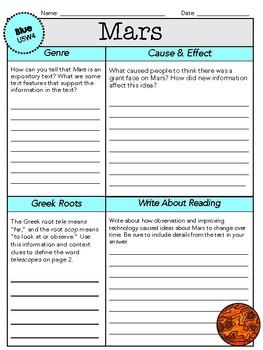 Wonders Leveled Reader Worksheets - GRADE 5, UNIT 5