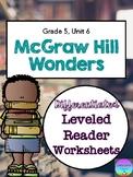 Wonders Leveled Reader Worksheets - GRADE 5, UNIT 6