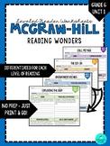Wonders Leveled Reader Worksheets - GRADE 6, UNIT 1