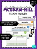 Wonders Leveled Reader Worksheets - GRADE 6, UNIT 2