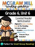 Wonders Leveled Reader Worksheets - GRADE 6, UNIT 6
