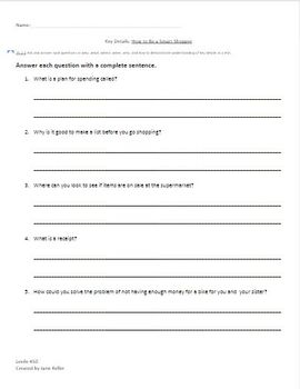 Wonders Leveled Readers Comprehension Questions (2nd Grade) On Level