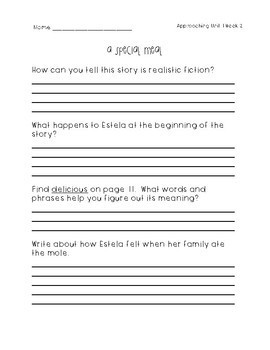 Wonders Leveled Readers Question Guides - 3rd Grade Approaching