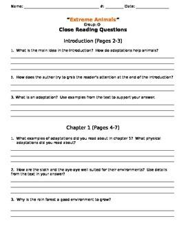 Wonders Leveled Readers Question Sets Unit 2, Week 4