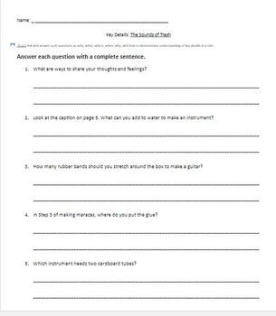 Wonders Leveled Readers Question Sheets ELL (2nd Grade)