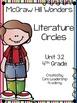 Wonders Literature Circles~ 4th Grade Unit 3~ Week 1-5