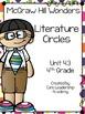 Wonders Literature Circles~ 4th Grade Unit 4~ Week 1-5
