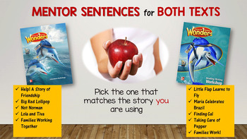 Wonders MENTOR SENTENCES {2nd Grade} Unit 1