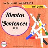 Wonders MENTOR SENTENCES {3rd Grade} UNIT 4