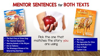 Wonders MENTOR SENTENCES {3rd Grade} UNIT 4
