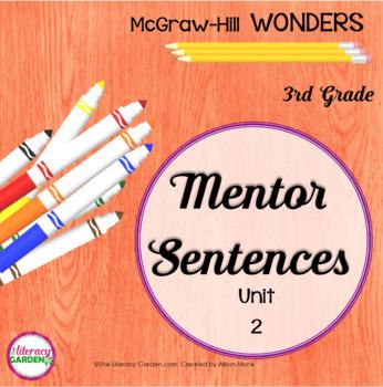 Wonders MENTOR SENTENCES {3rd Grade} Unit 2