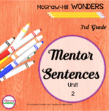 Wonders MENTOR SENTENCES {3rd Grade} Unit 2
