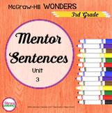 Wonders MENTOR SENTENCES {3rd Grade} Unit 3