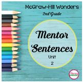 Wonders MENTOR SENTENCES Unit 2    {2nd Grade}