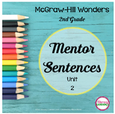 Wonders MENTOR SENTENCES Unit 2    {2nd Grade}