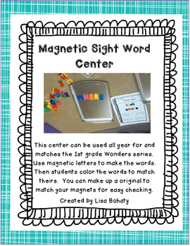 Wonders Magnetic Sight Word Center