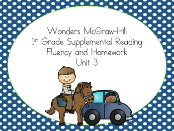 Wonders McGraw-Hill 1st Grade Supplemental Fluency Unit 3