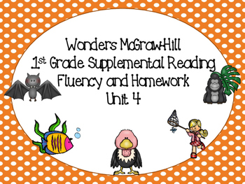Wonders McGraw-Hill 1st Grade Supplemental Fluency Unit 4
