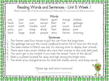 Wonders McGraw-Hill 1st Grade Supplemental Fluency Unit 5