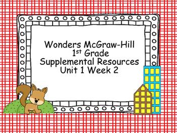 Wonders McGraw-Hill 1st Grade Unit 1 Week 2 Supplemental Focus Wall