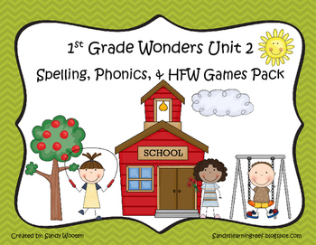 Wonders McGraw Hill 1st Grade Unit 2 Spelling & Phonics Games