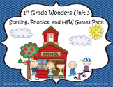 Wonders McGraw Hill 1st Grade Unit 3 Spelling and Phonics Games!