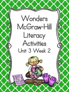 Wonders McGraw-Hill 1st Grade Unit 3 Week 2 Literacy Activities