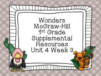 Wonders McGraw-Hill 1st Grade Unit 4 Week 3 Supplemental Focus Wall