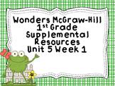 Wonders McGraw-Hill 1st Grade Unit 5 Week 1 Supplemental F