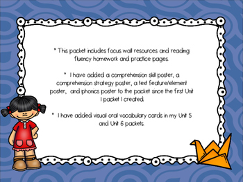 Wonders McGraw-Hill 1st Grade Unit 6 Week 4 Supplemental Focus Wall
