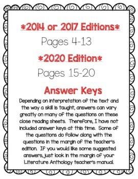 Wonders McGraw Hill 2nd Grade Close Reading (Literature Anthology Book) - Unit 1